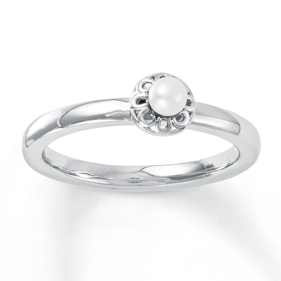 Kay Stackable Ring Cultured Pearl Sterling Silver