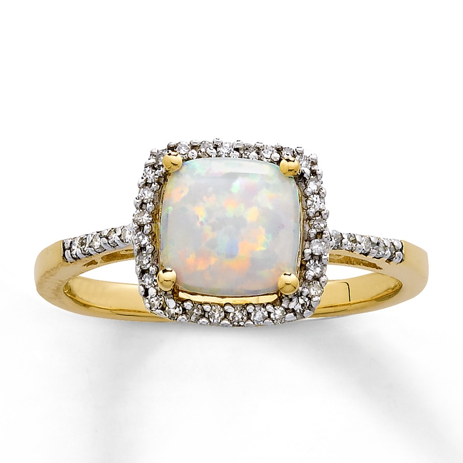 jewelers opal rings white gold rings