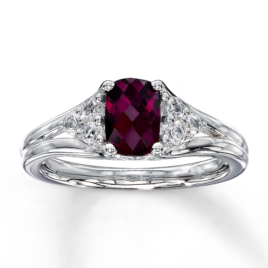in rose garnet rings ring diamonds rhodolite with gold