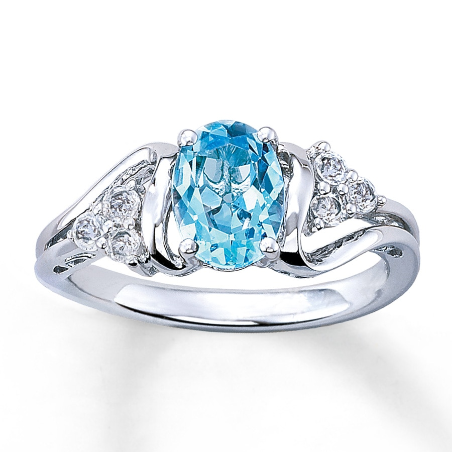 zm blue en to kay white gold cut rings kaystore zoom mv diamonds hover ring topaz with oval