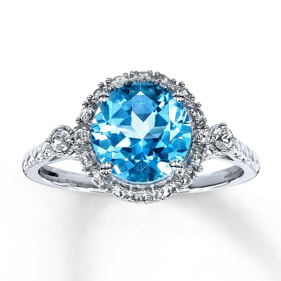 product white and rings diamond image gold engagement ring topaz octagon blue