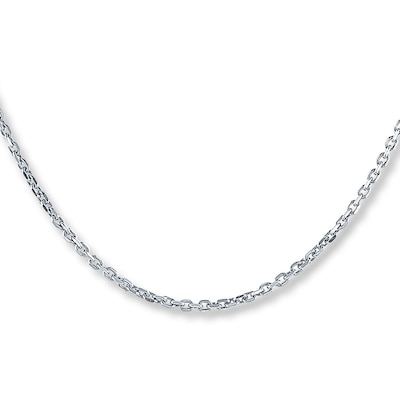 "Cable Chain Sterling Silver 24"" Length Kay Jewelers"
