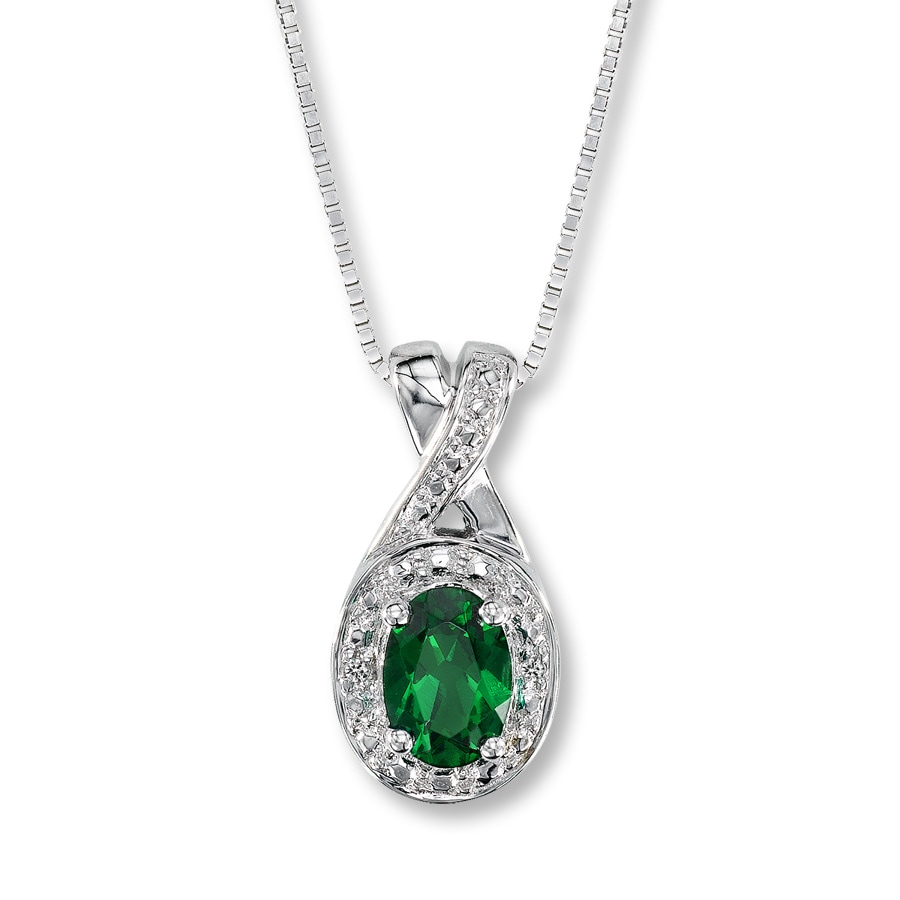 necklace sterling emerald silver ebay bhp