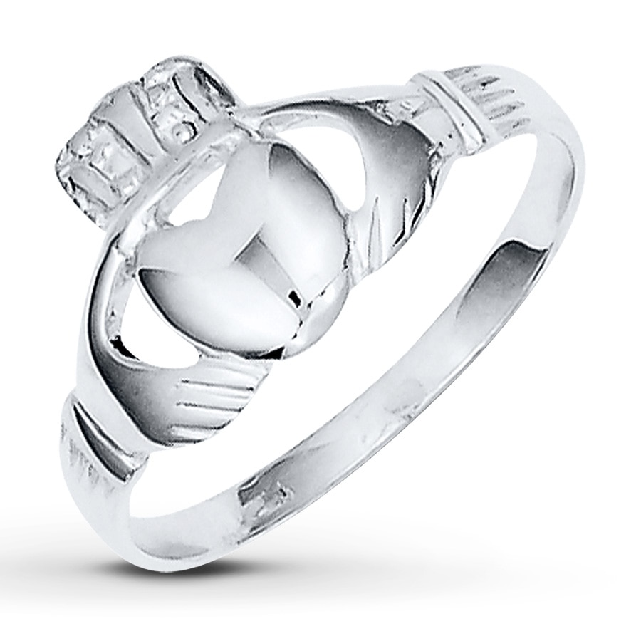 women 39 s claddagh ring sterling silver 50477590199 kay. Black Bedroom Furniture Sets. Home Design Ideas