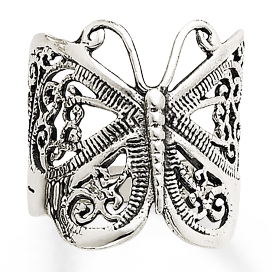 exceptional gold rings pin ring butterfly pinterest white