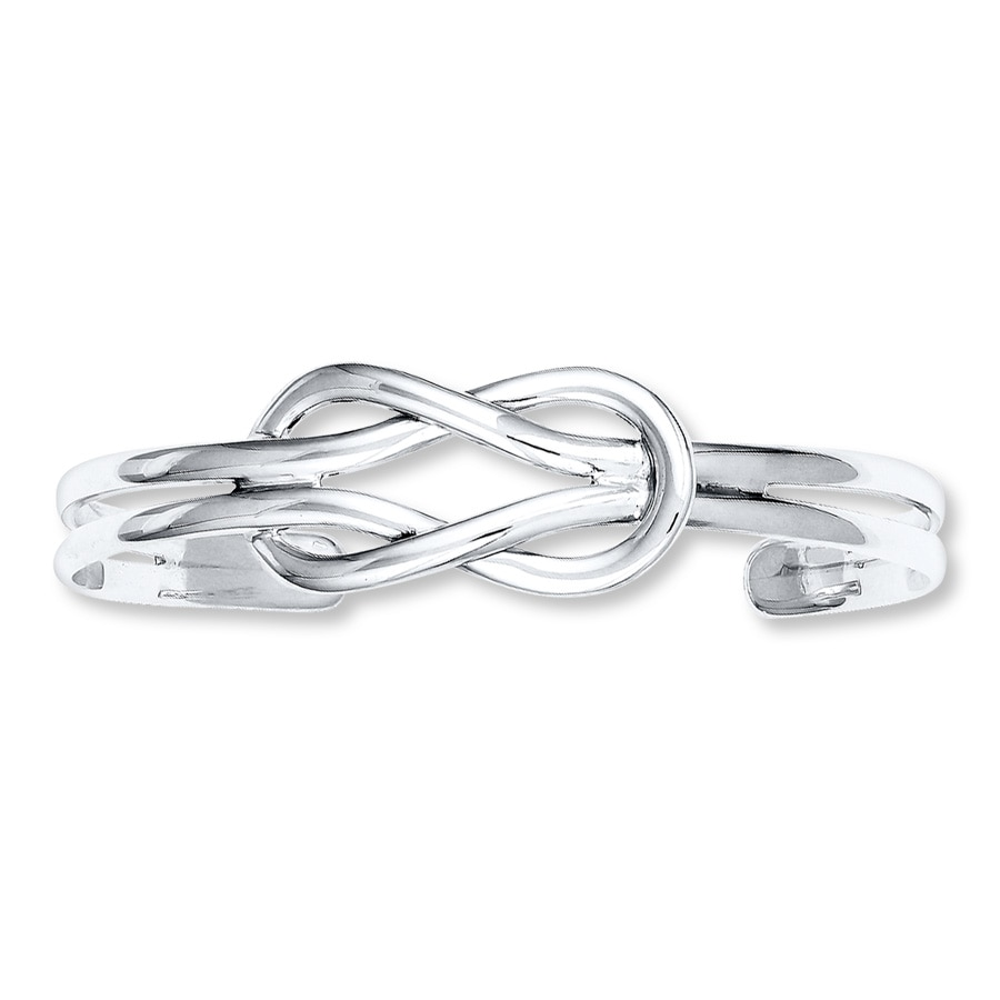 Love Knot Cuff Bracelet Sterling Silver Tap To Expand