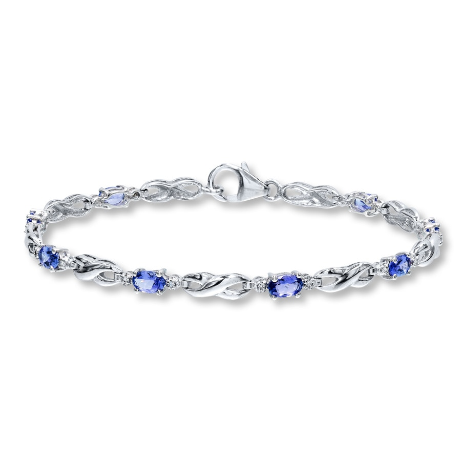 sterling oval silver bracelets bracelet tanzanite pin trio in