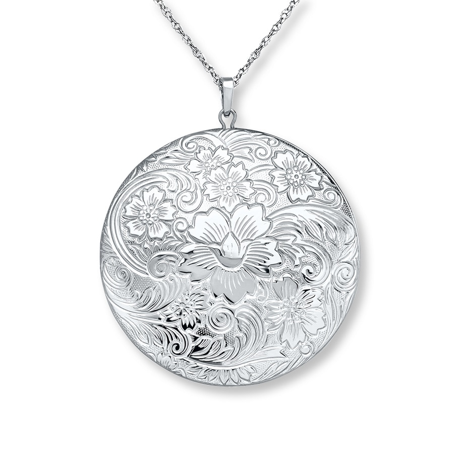 locket round gerochristo pendant sterling lockets medieval silver engraved