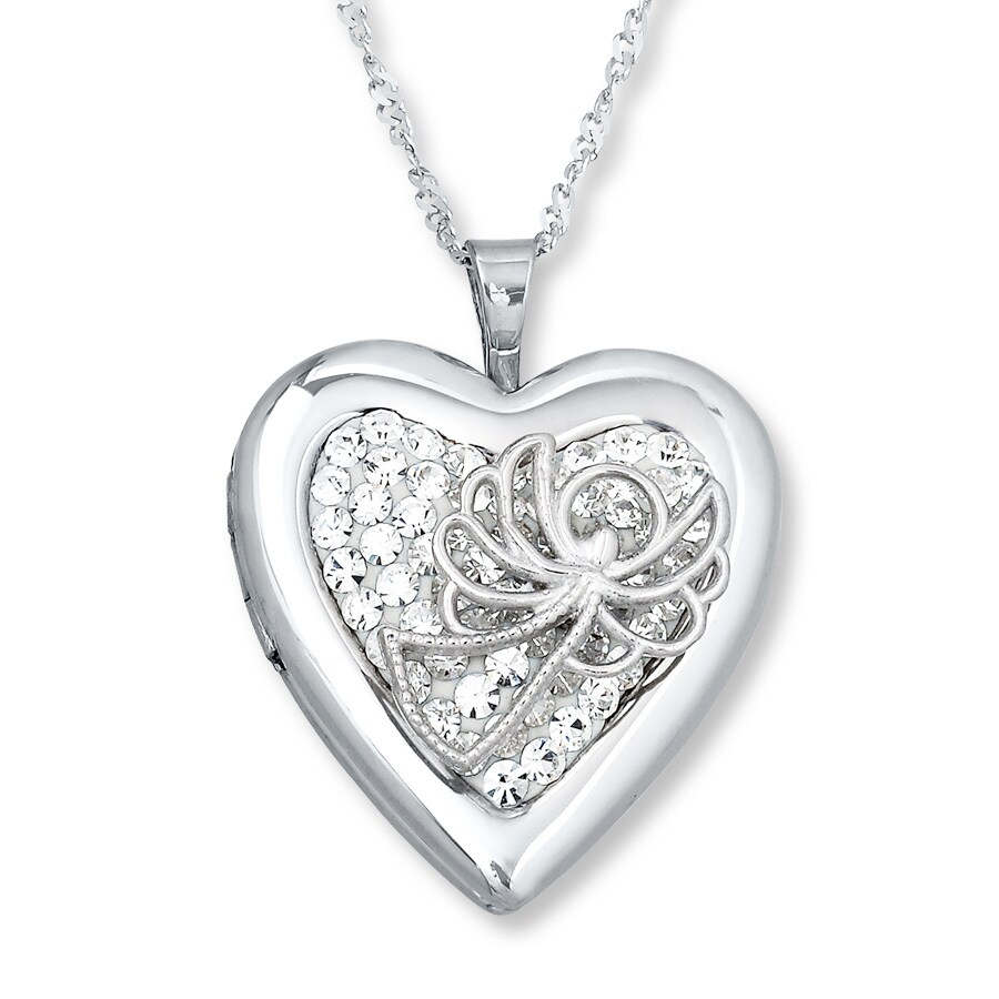 clear heart locket jewelry lockets us floating en sparkling cz pandora