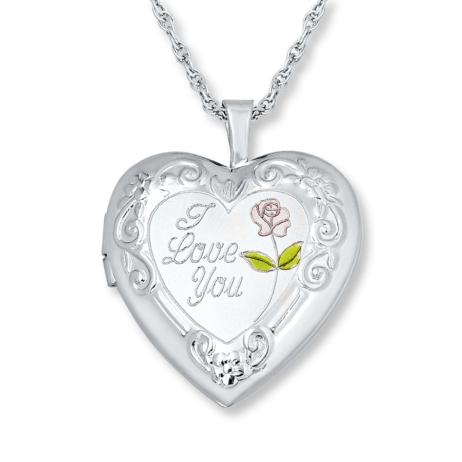 s heart necklace lockets more for sterling pin engraved childrens information hand children silver locket