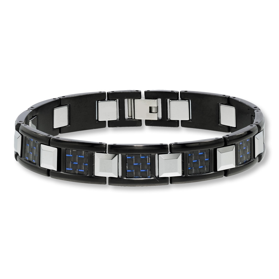 Men S Bracelet Tungsten Carbide Stainless Steel