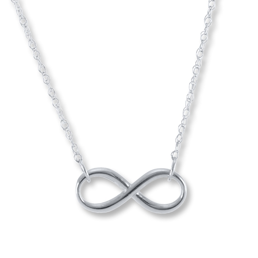 Infinity necklace sterling silver 506066707 kay infinity necklace sterling silver tap to expand aloadofball Choice Image