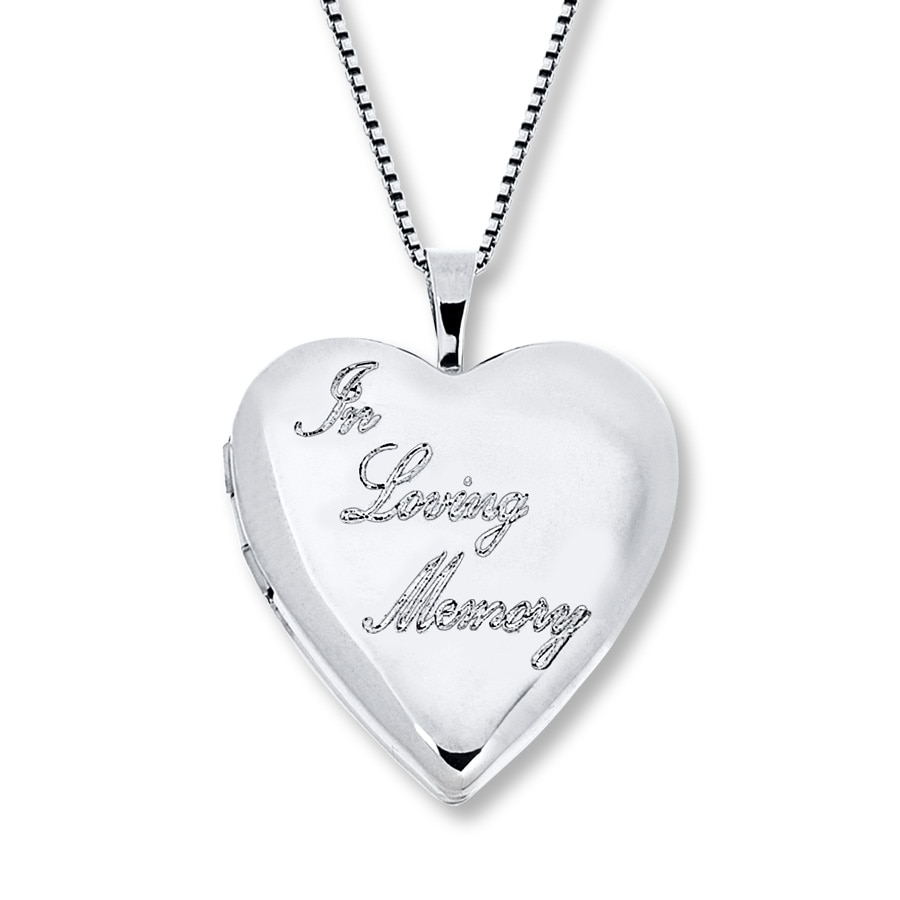 Kay In Loving Memory Locket Sterling Silver