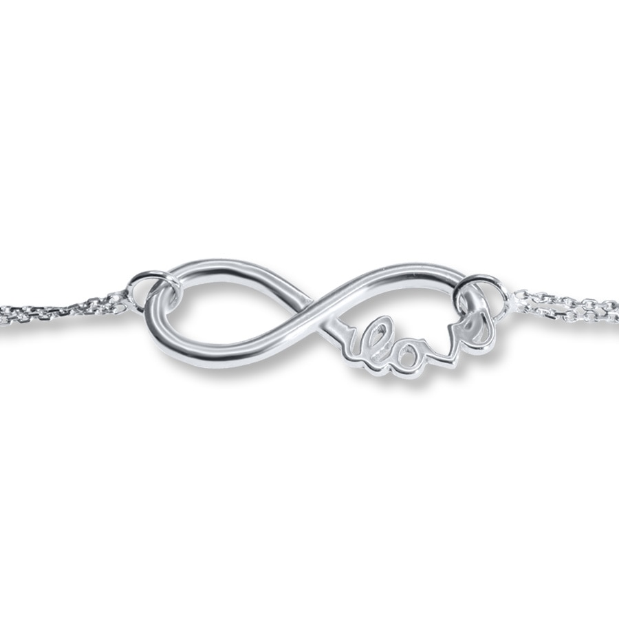 zm diamonds symbol sterling mv gold white tw email bracelets silver infinity kay ct bracelet jewelers