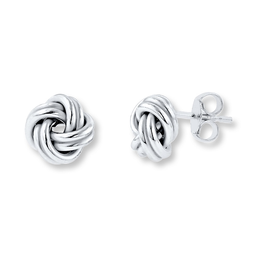 Love Knot Earrings Sterling Silver Tap To Expand