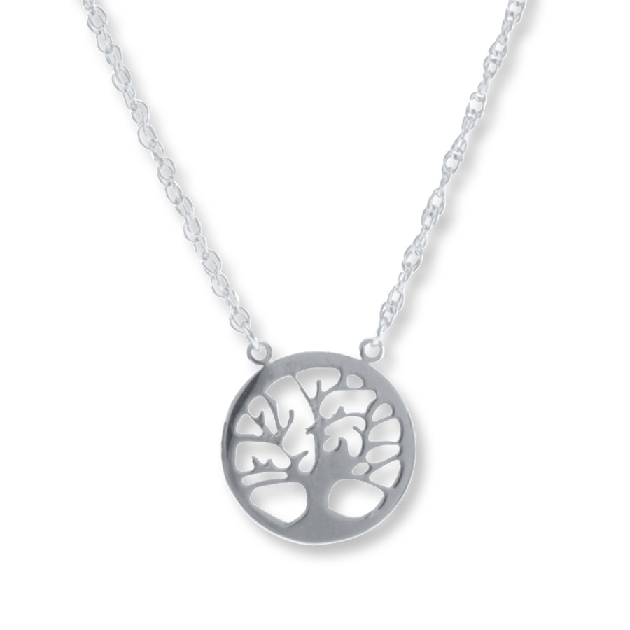 6177aa4bd Family Tree Necklace Sterling Silver - 506473901 - Kay