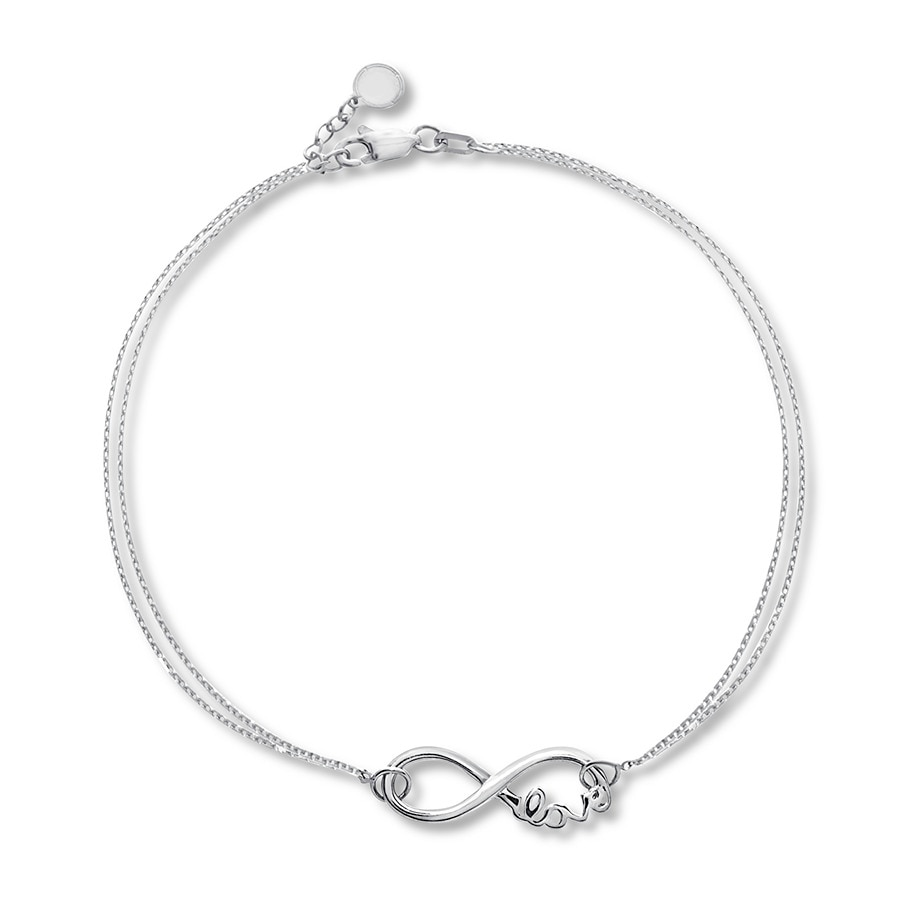 Infinity Love Bracelet Sterling Silver Tap To Expand