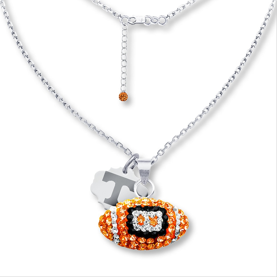 necklace initial charm with personalized star football