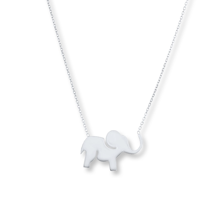 Elephant Necklace Sterling Silver 506874508 Kay
