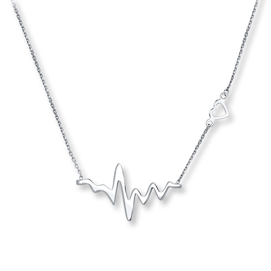 Heartbeat Necklace Sterling Silver 506875501 Kay