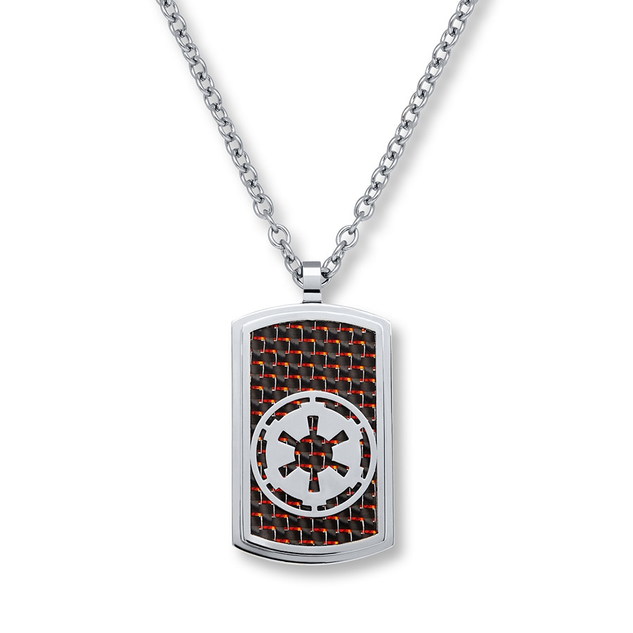 Star Wars Mens Dog Tag Necklace Star Wars Empire Stainless Steel jMGFPJv