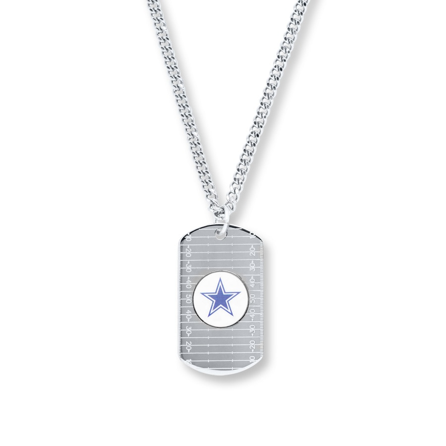 Kay mens dog tag necklace dallas cowboys sterling silver hover to zoom aloadofball