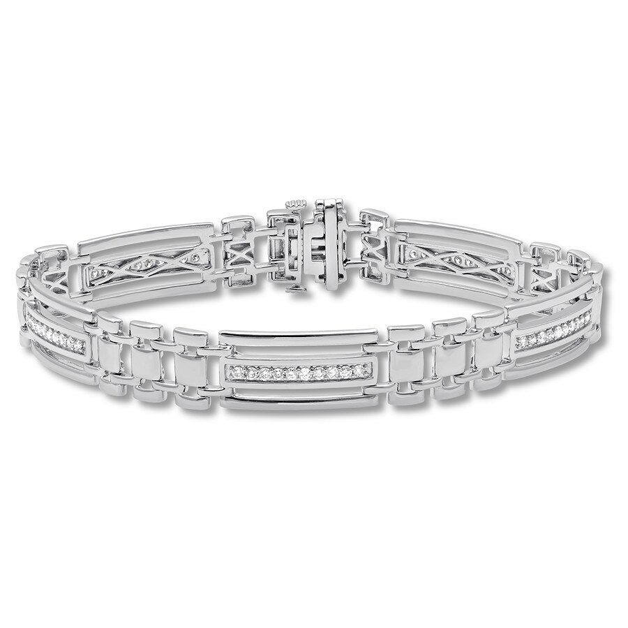 bfe1a5cbe3c81 Men's Diamond Bracelet 1 ct tw Round-cut Sterling Silver 8.5