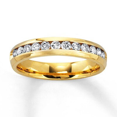Diamond Anniversary Band 1/2 ct tw Round-cut 14K Yellow Gold Ring Kay Jewelers
