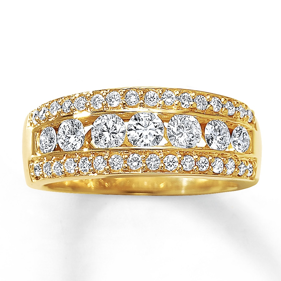 en ct zoom ring round cut to white diamond engagement mv tw gold rings kaystore kay hover zm