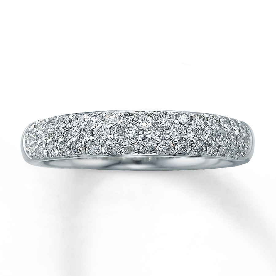 white gold round pid bands jewelry carat moissanite anniversary eternity band ring rings diamond