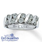 Leo Anniversary Ring 1 1/4 ct tw Diamonds 18K White Gold