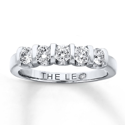 Leo Diamond Band 5/8 ct tw Round-cut 14K White Gold Ring The Leo Diamond