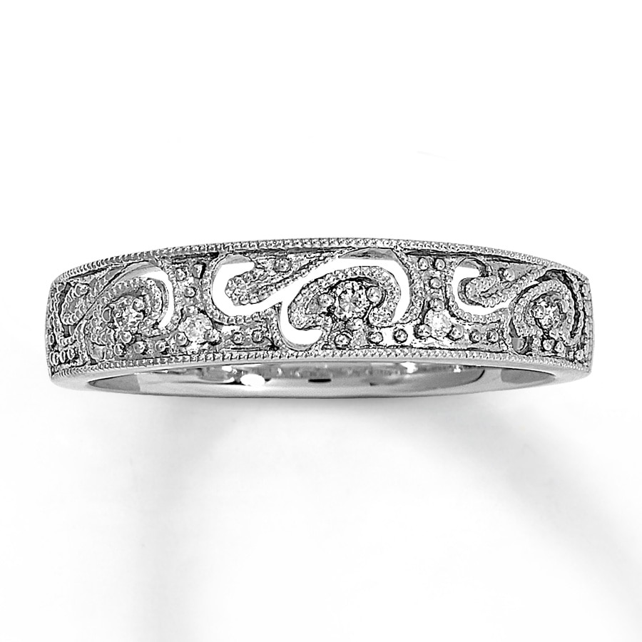Kay Diamond Ring 120 ct tw Roundcut 10K White Gold