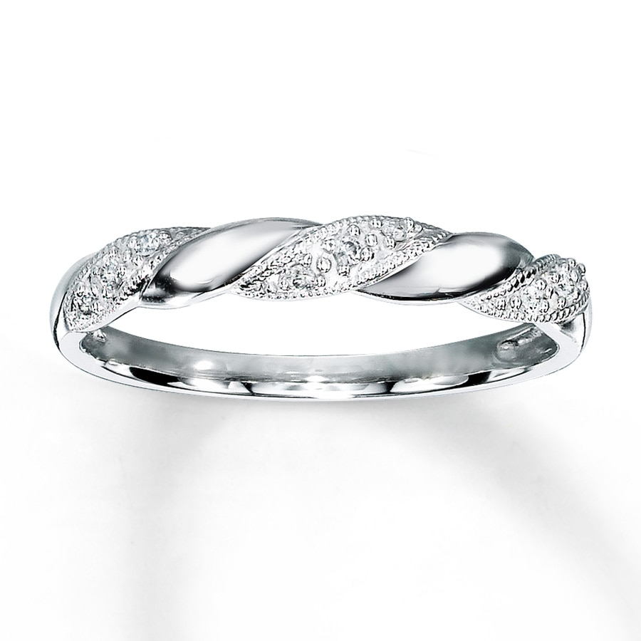 Kay Diamond Anniversary Ring 1 20 ct tw Round cut 10K White Gold