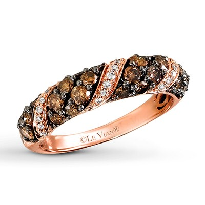 LeVian Chocolate Diamonds 1 carat tw Ring 14K Strawberry Gold