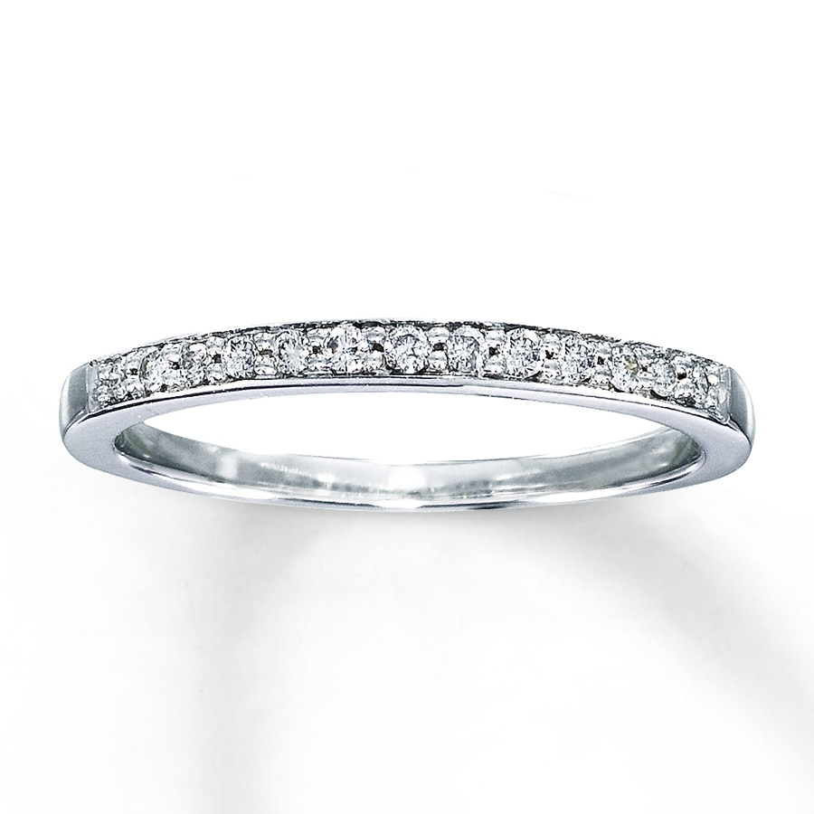 Diamond Anniversary Band 1 8 ct tw Round-cut 10K White Gold ... ea281a526c30