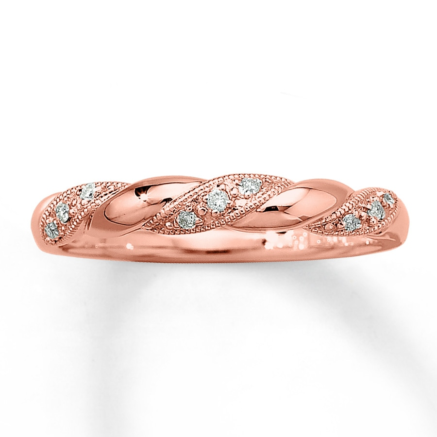 Kay  Diamond Ring 1/20 ct tw Roundcut 10K Rose Gold