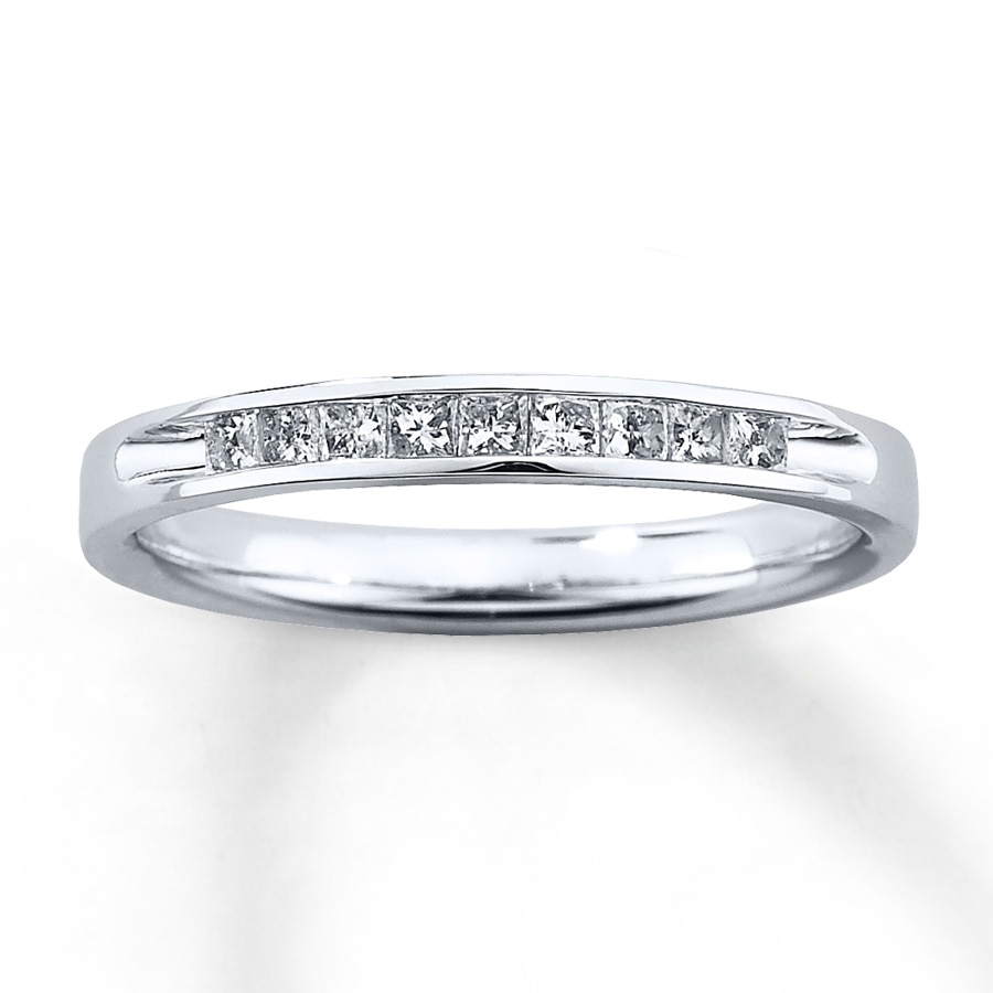 Kay Diamond Wedding Band 14 ct tw Princesscut 10K White Gold