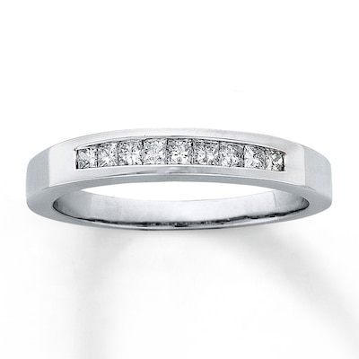 Diamond Anniversary Band 1/4 ct tw Princess-cut 14K White Gold Ring Kay Jewelers