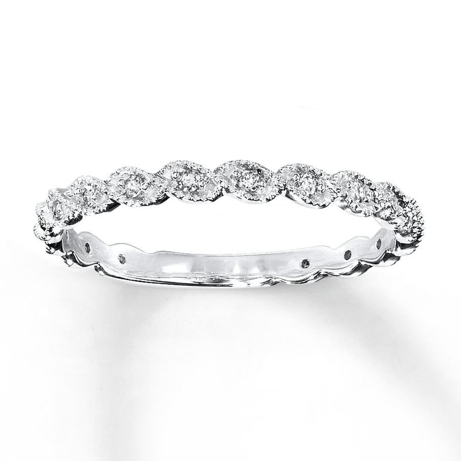 Kay Diamond Ring 1 10 ct tw Round cut 14K White Gold