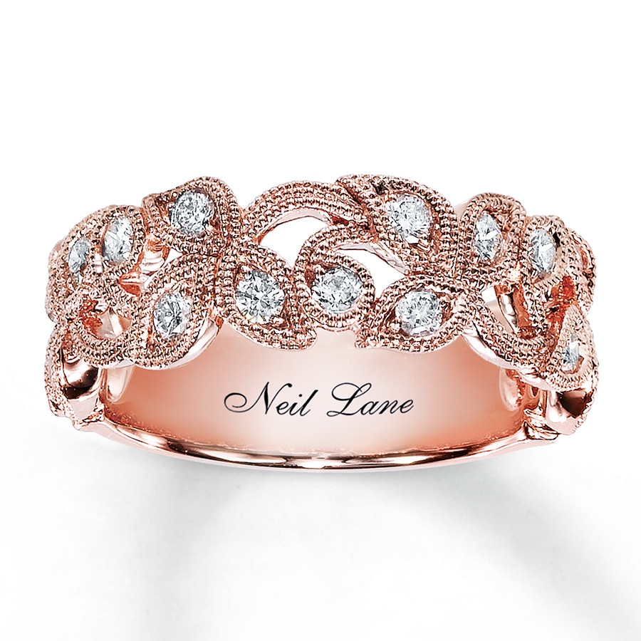 Rose Gold And Silver Promise Ring