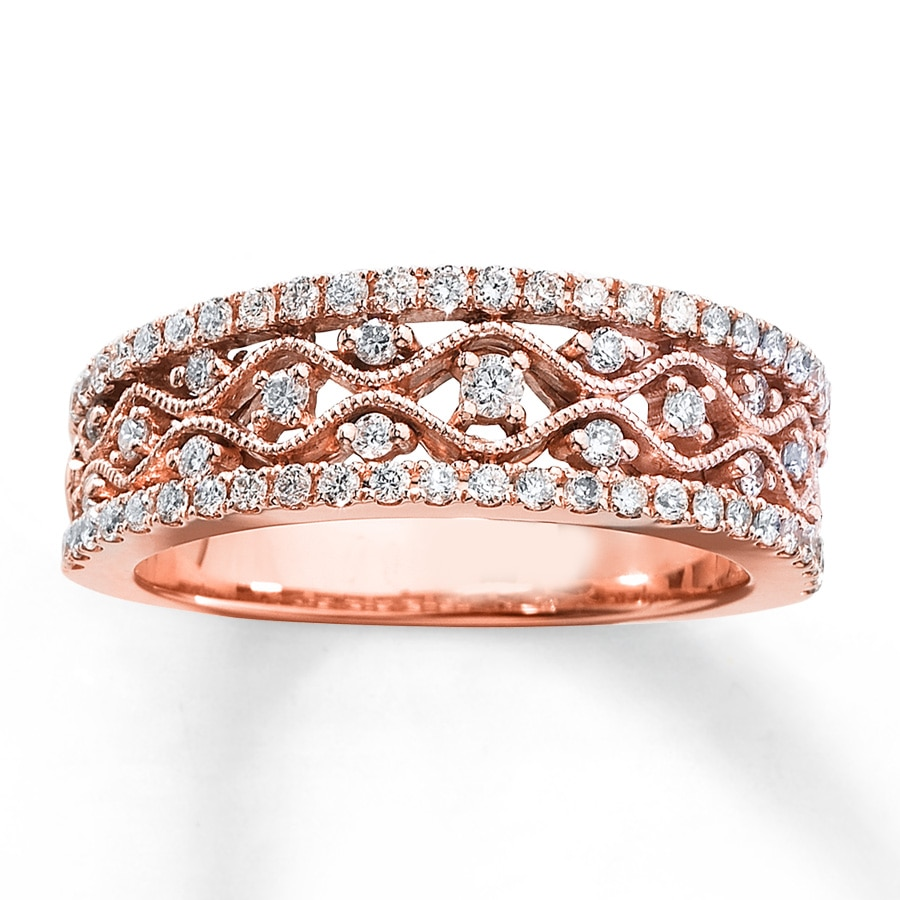 custom jewelry diamond white rings band paisley filigree in anniversary wedding rg rose antique gold with nl bands