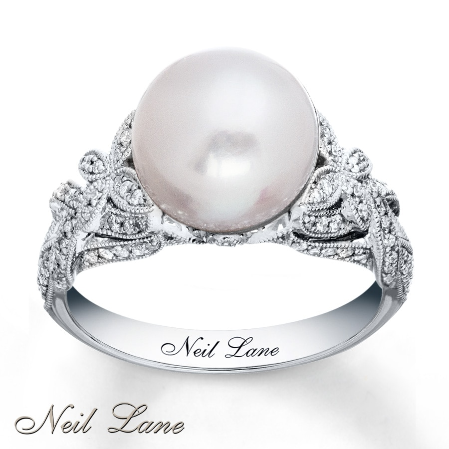 Kay Neil Lane Designs Cultured Pearl Ring 14K White Gold