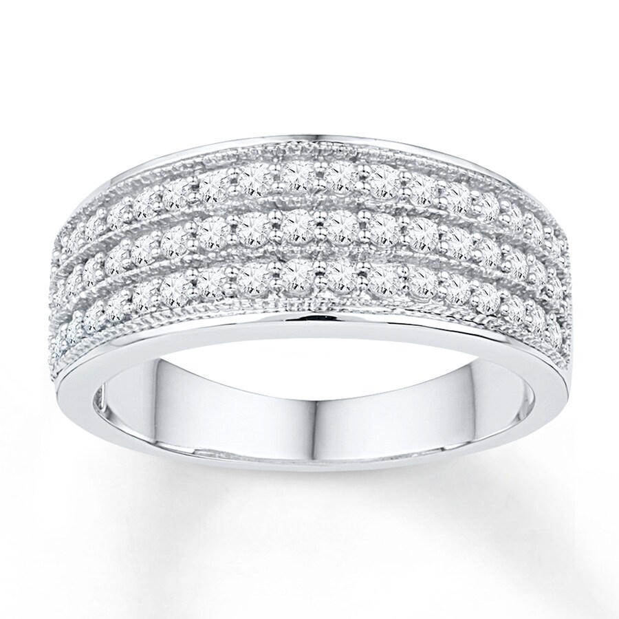 ct gold diamond ring itm carat multi bands anniversary in band