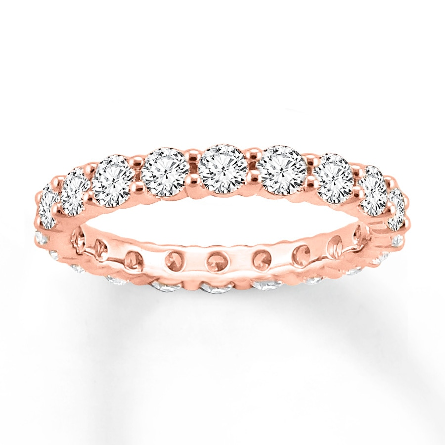 eternity stacking pink sapphire rose gold bands band