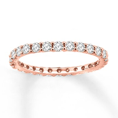 Diamond Eternity Ring 1 ct tw Round-cut 14K Rose Gold