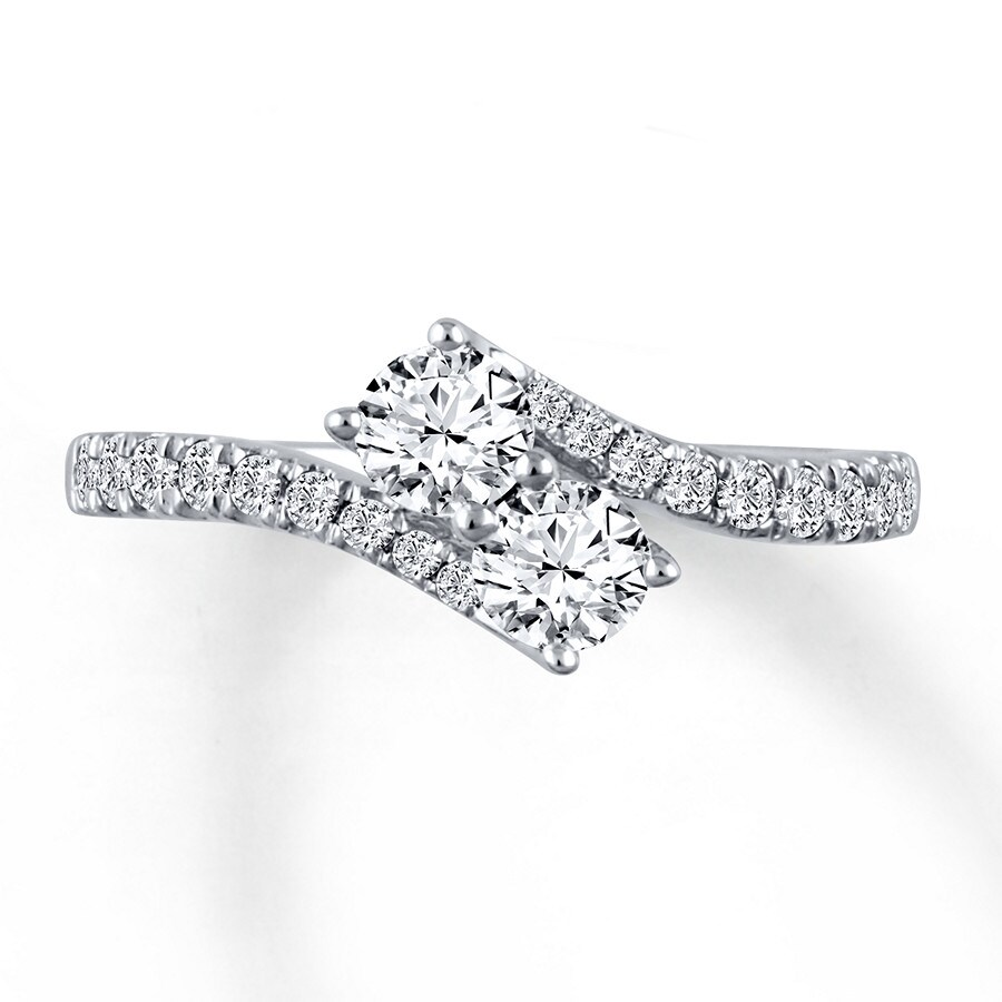 Ever Us Two-Stone Ring 1 ct tw Diamonds 14K White Gold - 532459601 - Kay