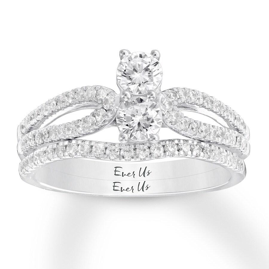 58870089192f3 Ever Us Diamond Bridal Set 7/8 carat tw 14K White Gold - 532961800 - Kay