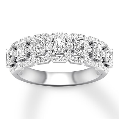 Emerald-cut Diamond Anniversary Band 1-1/3 ct tw 14K White Gold
