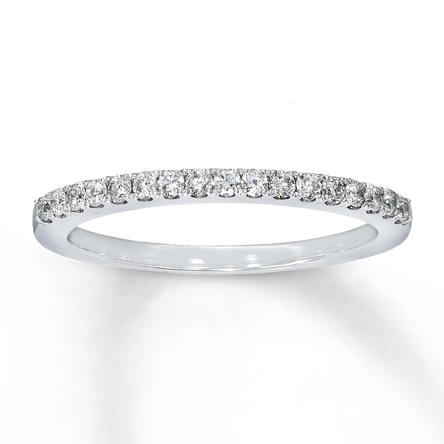 Large View Diamond Wedding Band 1 4